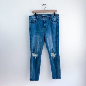 Old Navy Distressed Power Straight Jeans size 14